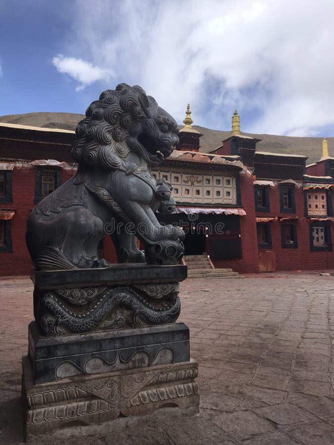Sakya Monastery in Tibet, China. stock photo