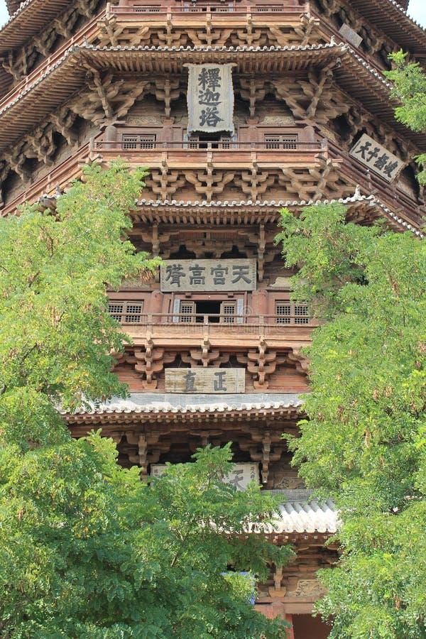 Sakyamuni-Pagode von Fogong-Tempel lizenzfreie stockbilder