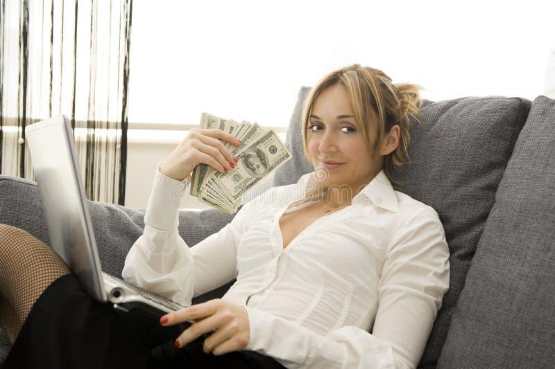 Salário com conforto imagem de stock royalty free