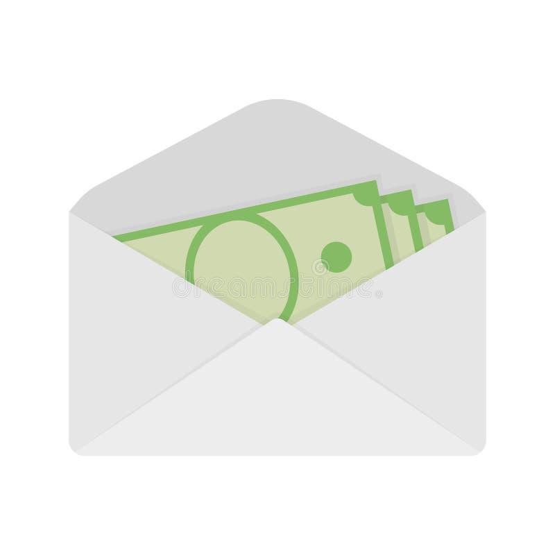 Salários no envelope salário Dinheiro de transferência Vetor ilustração do vetor