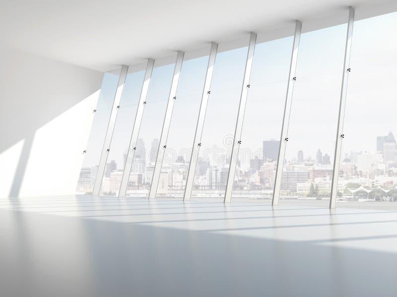 Salão com janelas ilustração royalty free