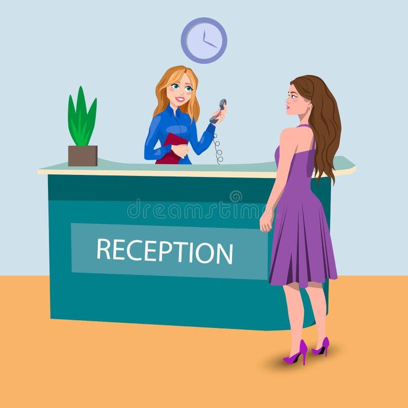 Salão com mulheres ilustração royalty free