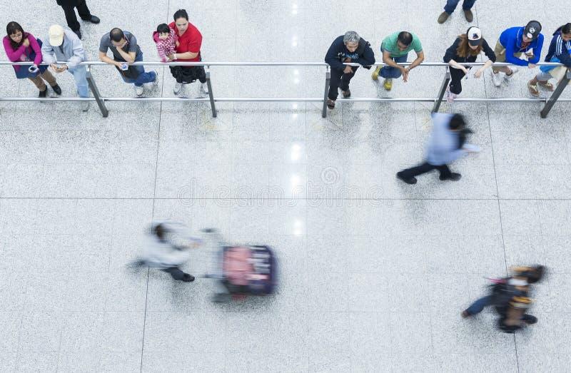 Salão da chegada de Hong Kong International Airport fotos de stock