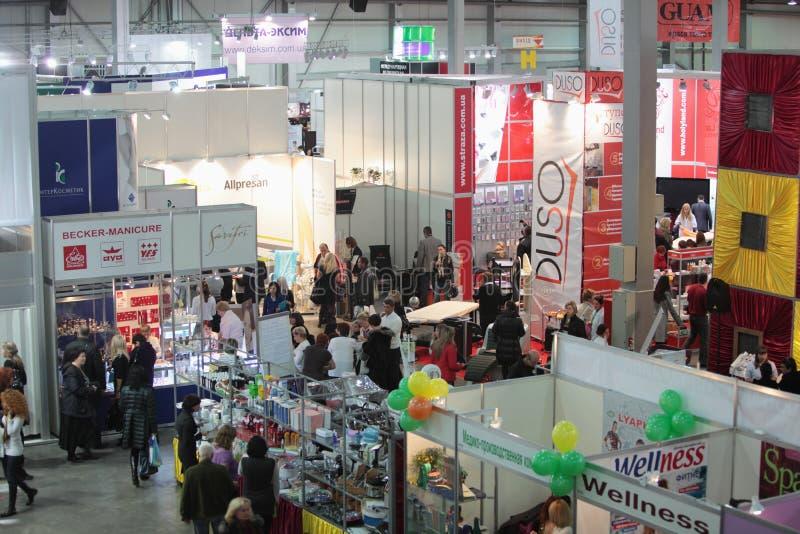 Salão da exposição. foto de stock royalty free