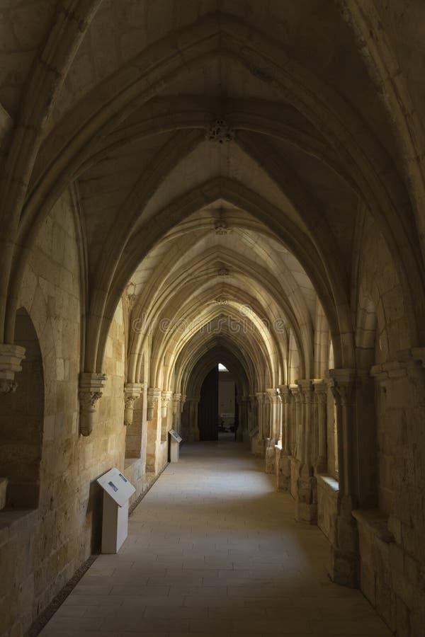 Salão da melancolia do monastério de Santa MarÃa de Huerta, Soria, Sp fotos de stock royalty free