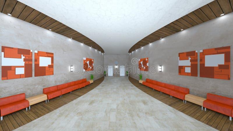Salão da recepção ou de entrada ilustração do vetor