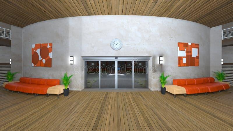 Salão da recepção ou de entrada ilustração stock