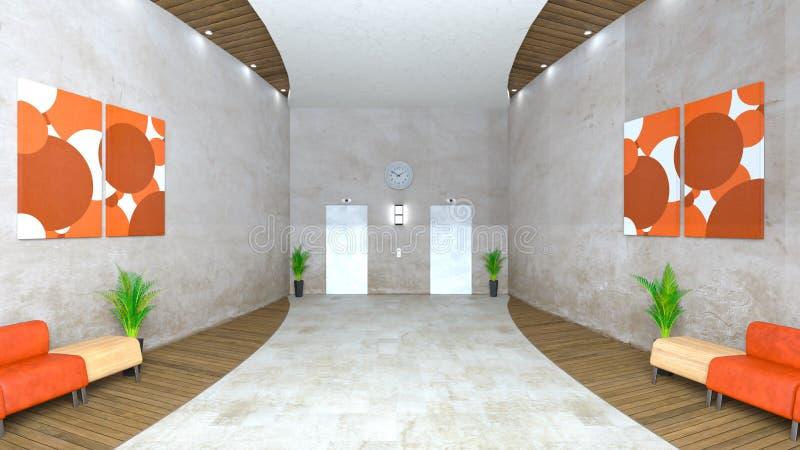Salão da recepção ou de entrada ilustração royalty free
