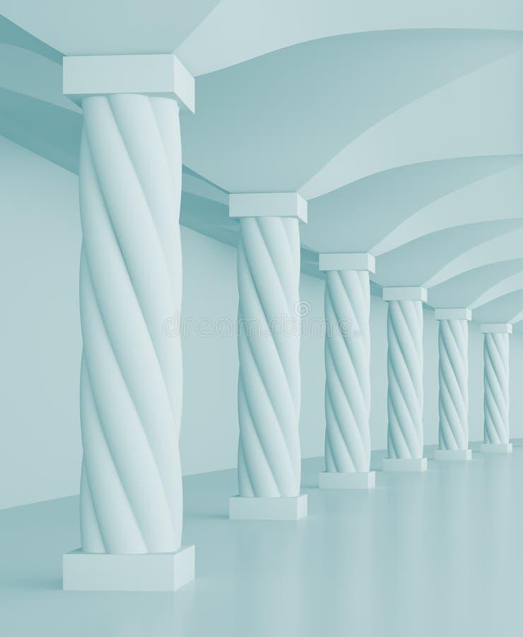 Salão das colunas ilustração do vetor