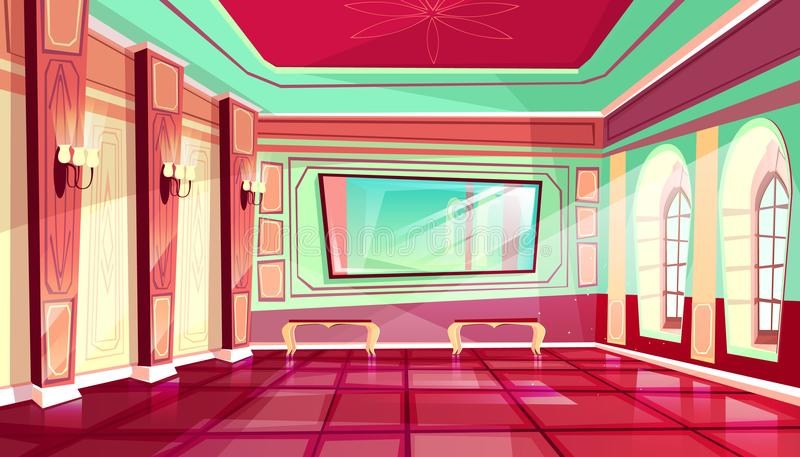 Salão de baile da ilustração do vetor do salão do palácio real ilustração stock