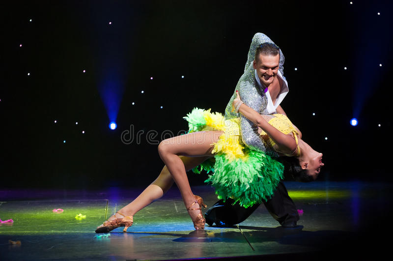 Salão de baile latino imagem de stock