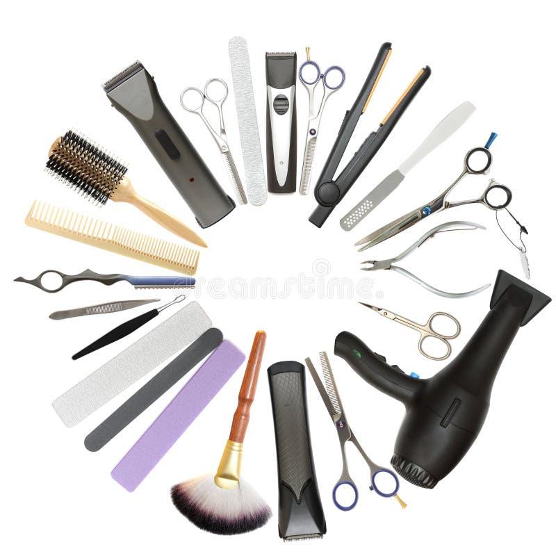 Salão de beleza de beleza e fundo do barbeiro foto de stock royalty free
