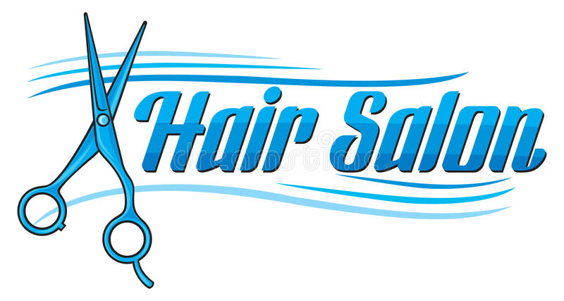 Salão de beleza de cabelo ilustração royalty free