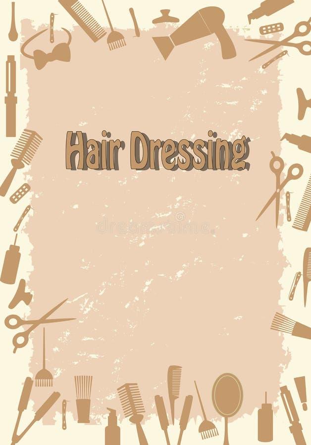 Salão de beleza do Hairdressing ilustração do vetor