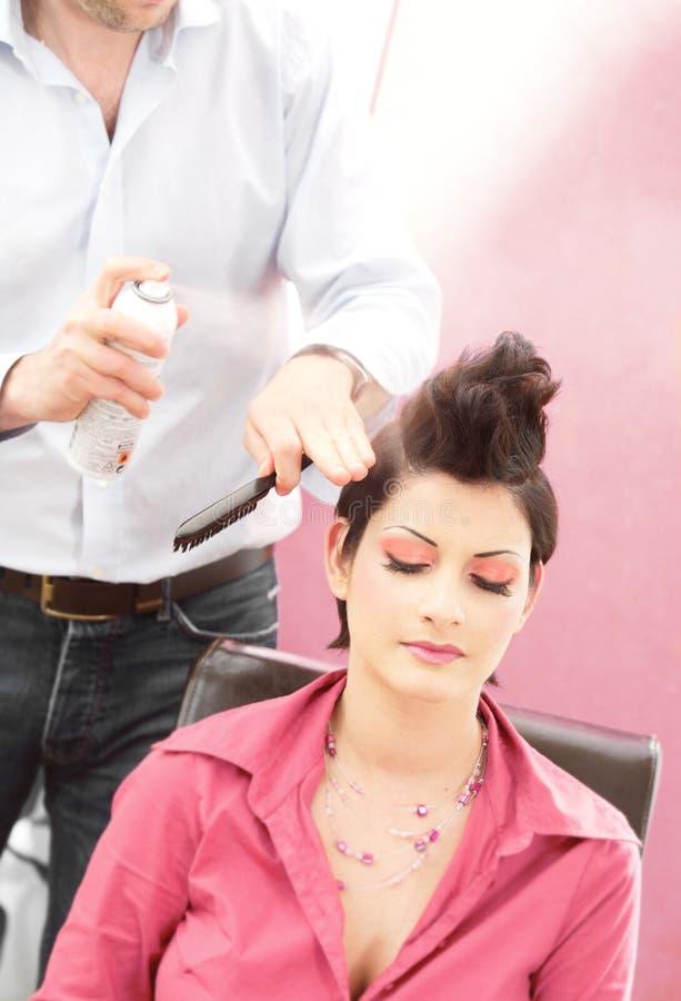 Salão de beleza do penteado fotos de stock royalty free