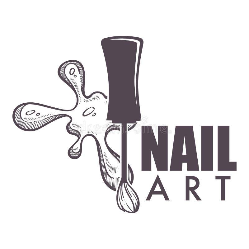 Salão de beleza dos termas da arte do prego que faz o tratamento de mãos novo para mulheres ilustração stock