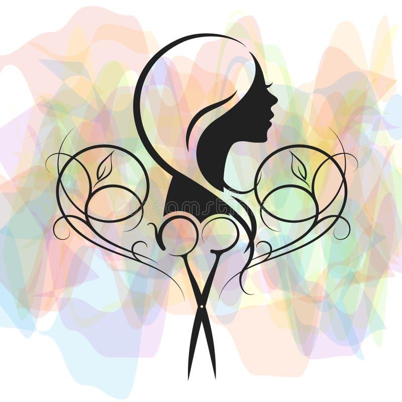 Salão de beleza para o símbolo das mulheres ilustração stock