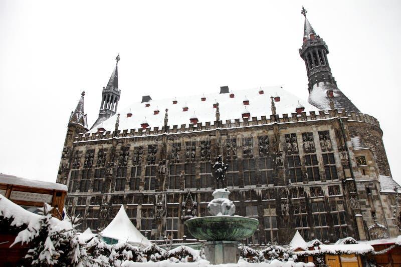 Salão de cidade Alemanha de Aix-la-Chapelle imagens de stock royalty free
