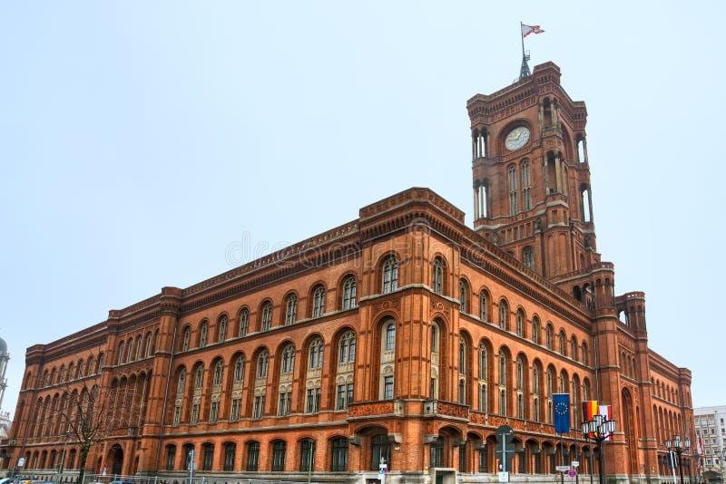 Salão de cidade de Berlim, Alexanderplatz, Alemanha. fotos de stock royalty free