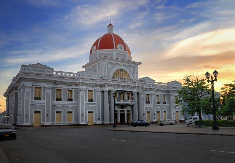 Salão de cidade de Cienfuegos, Cuba fotografia de stock royalty free