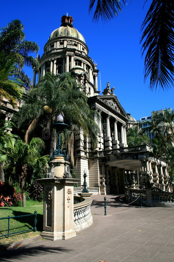 Salão de cidade de Durban fotos de stock royalty free
