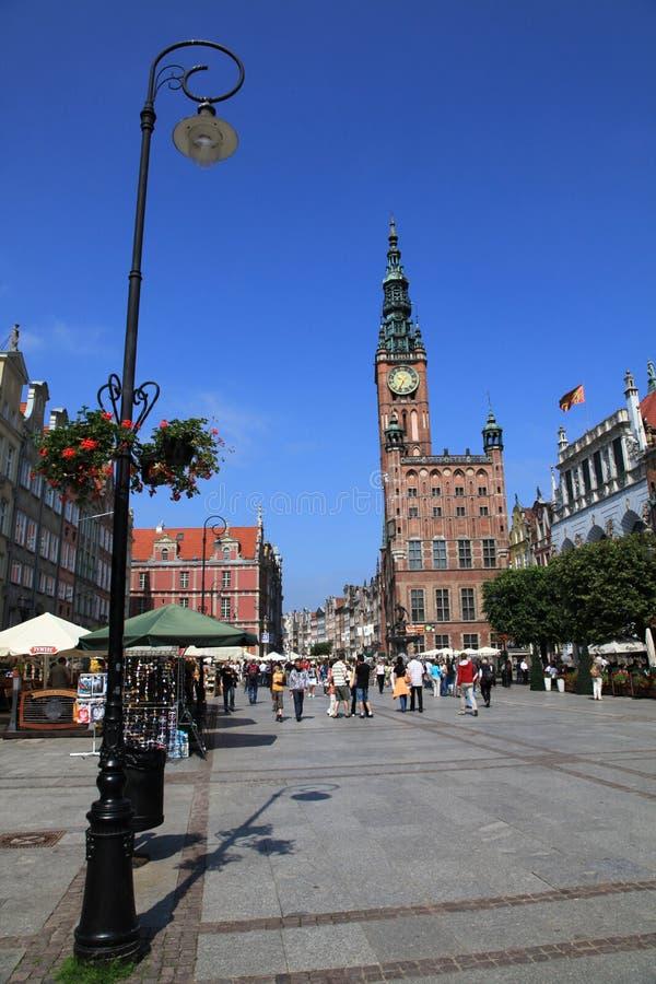 Salão de cidade de Gdansk fotografia de stock