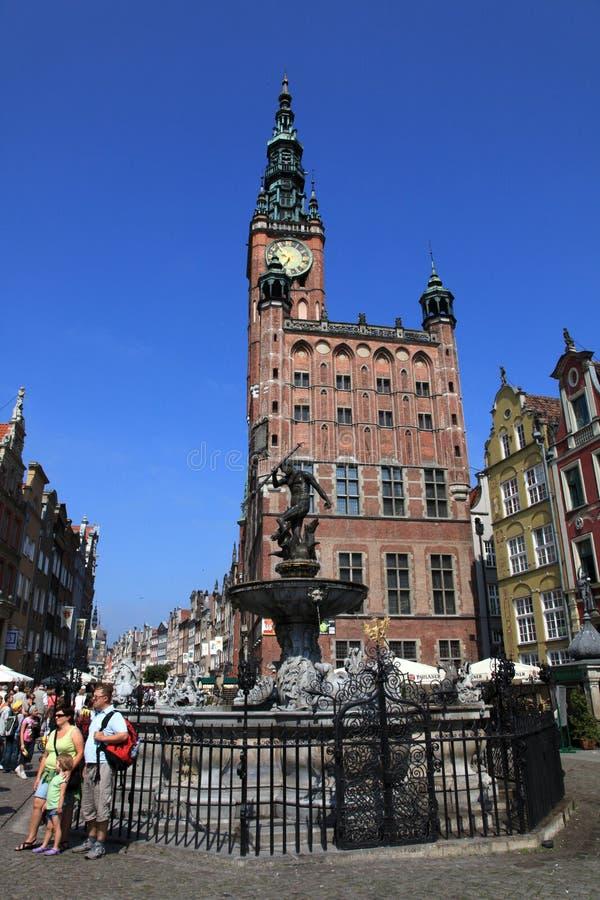 Salão de cidade de Gdansk foto de stock royalty free