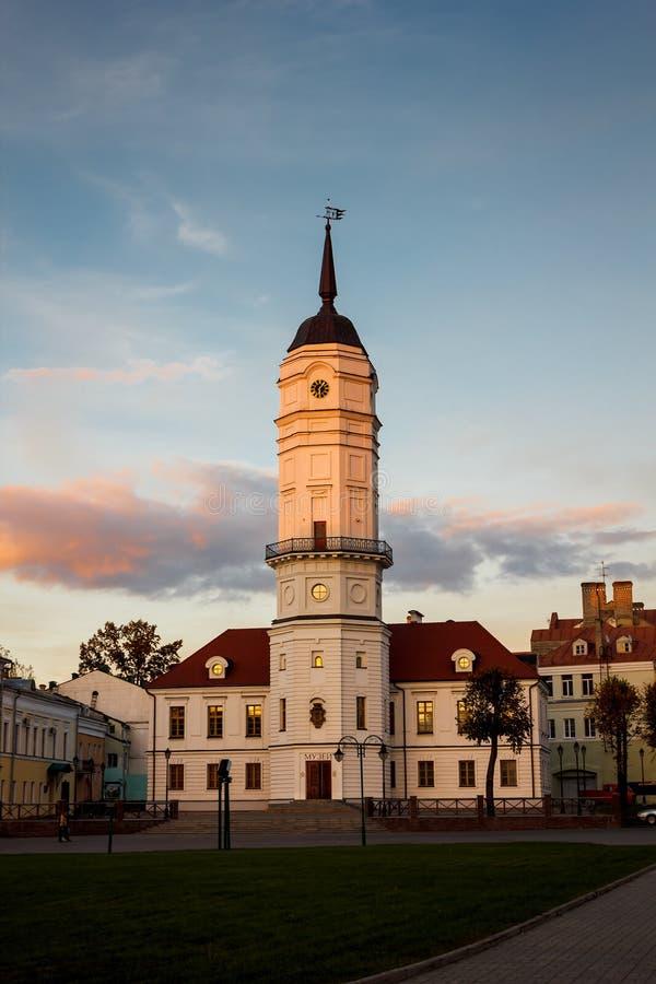 Salão de cidade de Mogilev imagens de stock