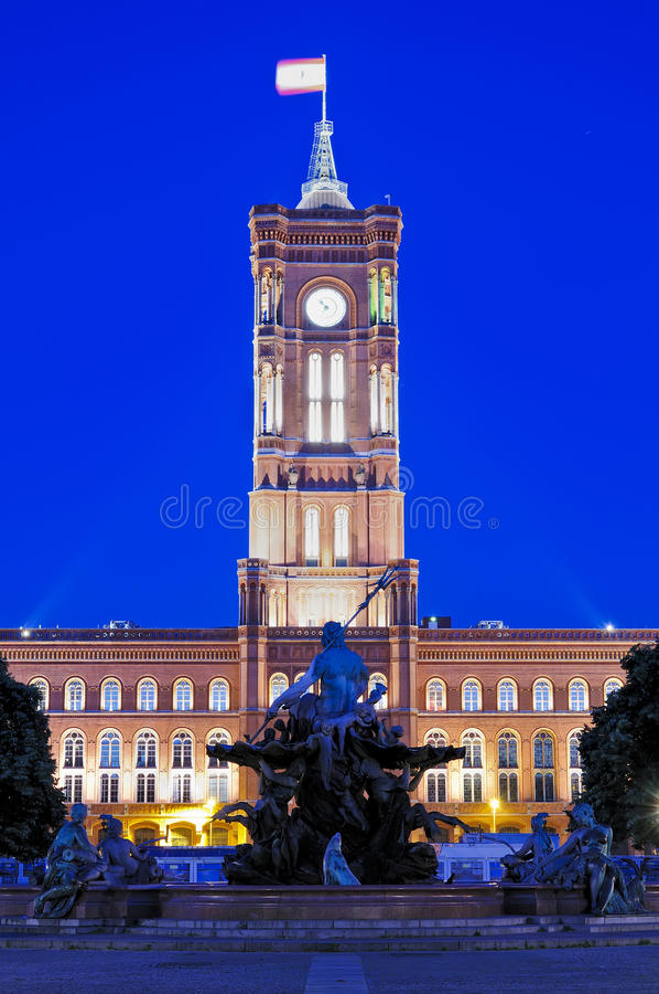 Salão de cidade em Berlim fotos de stock royalty free