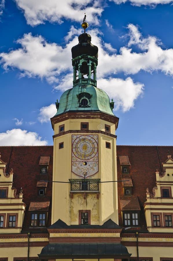 Salão de cidade velho em Leipzig fotos de stock royalty free