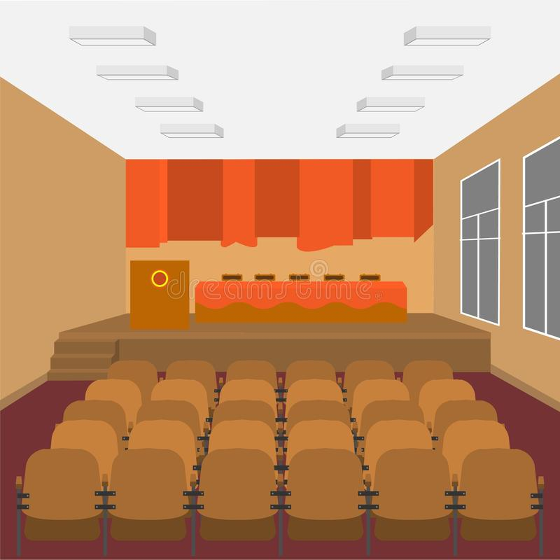 Salão de conjunto da escola ilustração royalty free