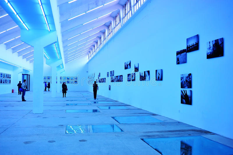 Salão de exposição da fotografia foto de stock