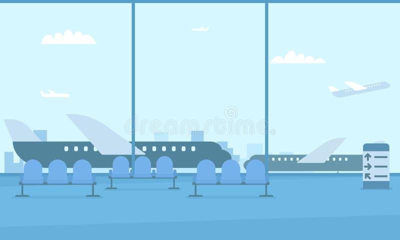 Salão do aeroporto ilustração royalty free
