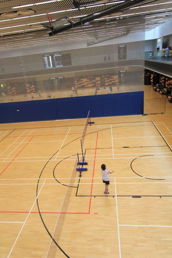 Salão do badminton de Hong Kong em Hang Hau Sports Centre imagem de stock
