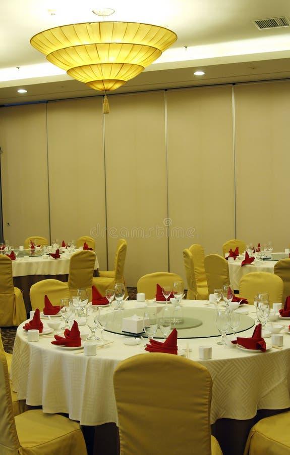 salão do banquete do Chinês-estilo imagens de stock royalty free