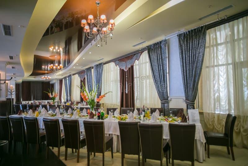 Salão do banquete, salão para o casamento, imagens de stock royalty free