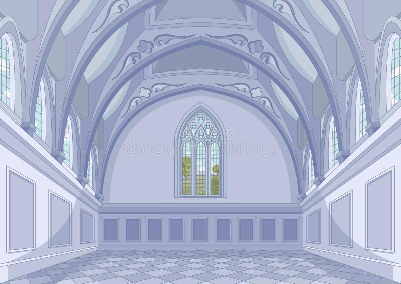 Salão do castelo ilustração do vetor