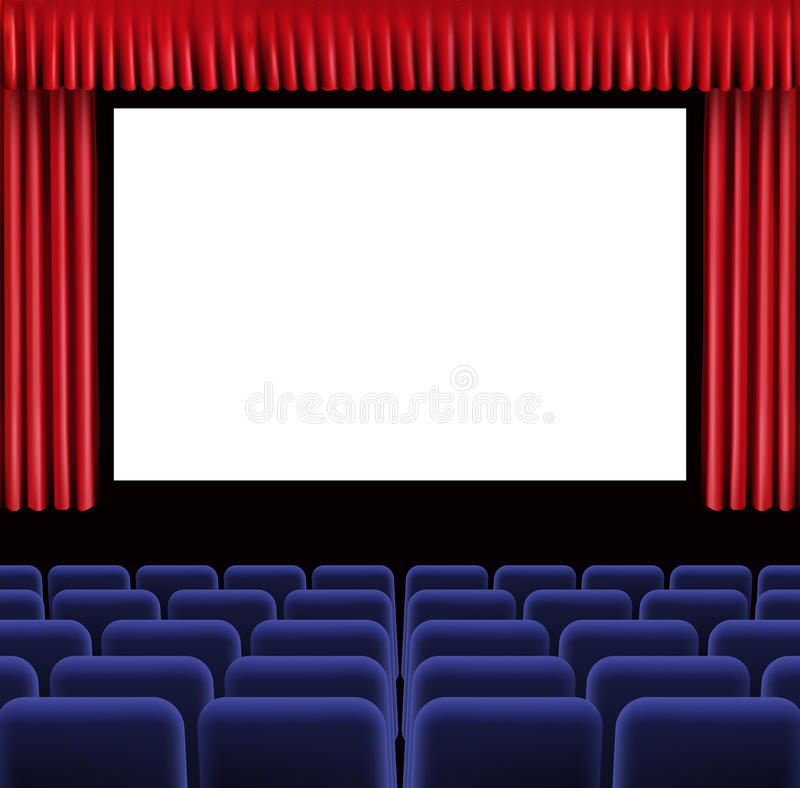 Salão do cinema ilustração royalty free