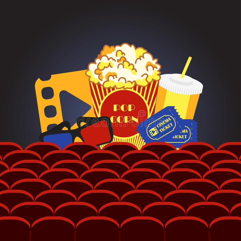 Salão do cinema do filme ilustração royalty free