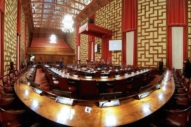 Salão do Conselho da cidade salão de Éstocolmo imagens de stock