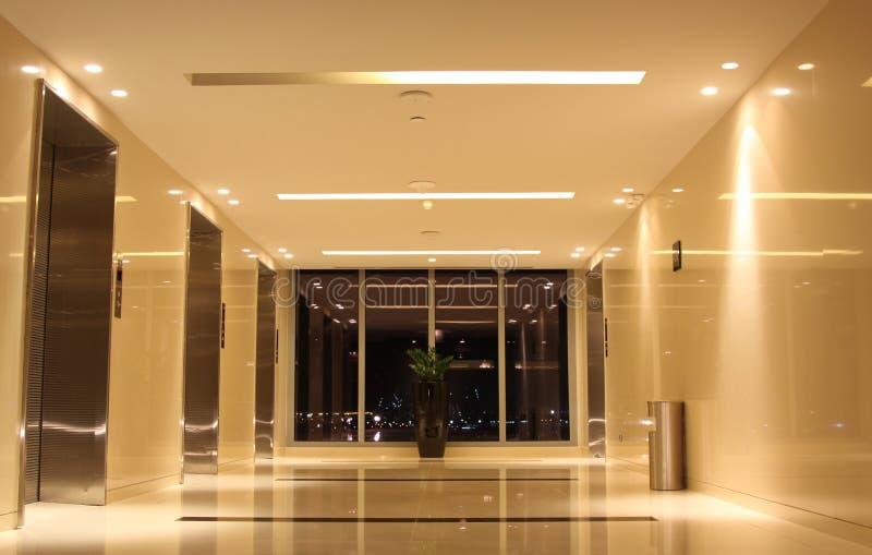 Salão do elevador fotografia de stock royalty free