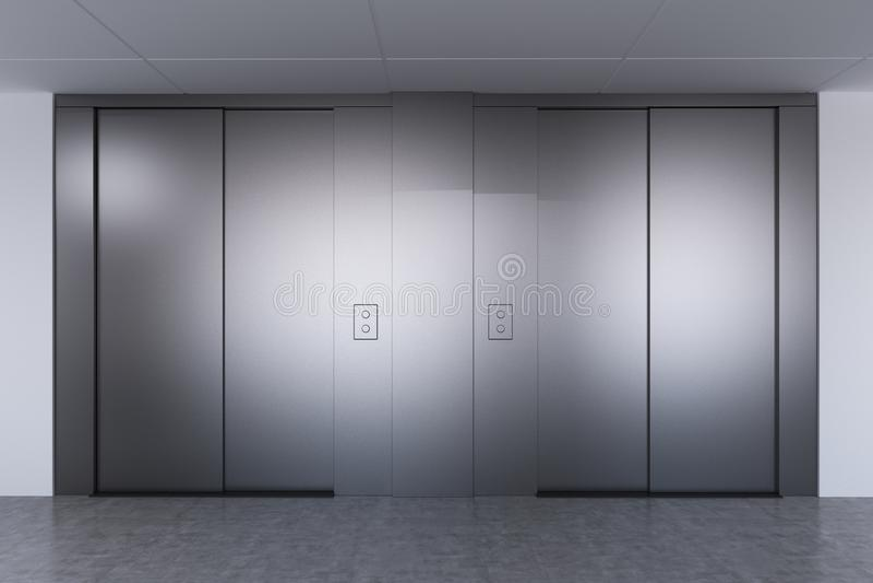 Salão do elevador em um escritório moderno ilustração stock