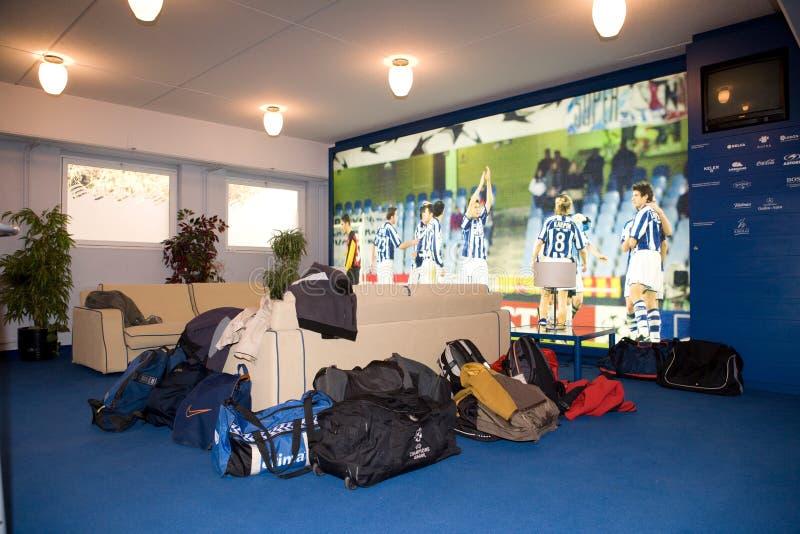 Salão do estádio de Real Sociedad em Donostia fotografia de stock