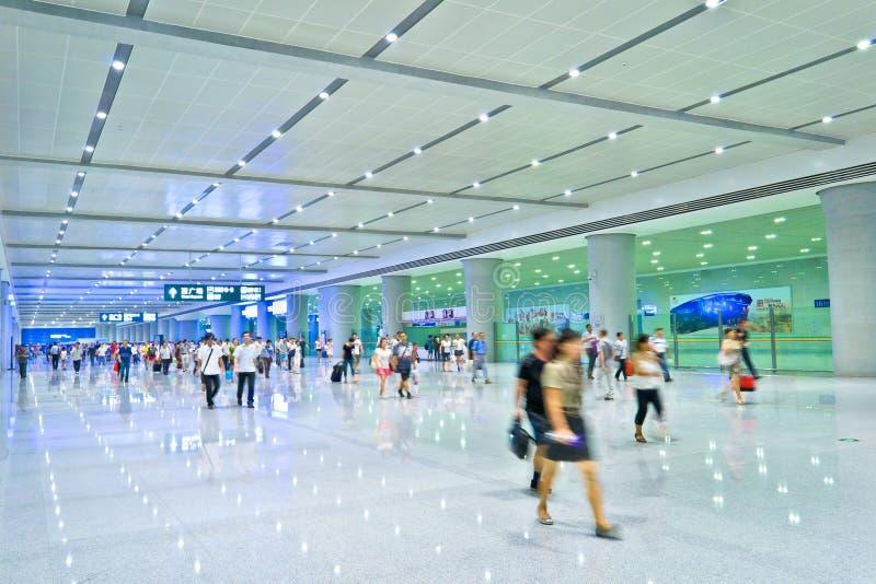 Salão do estação de caminhos-de-ferro foto de stock royalty free
