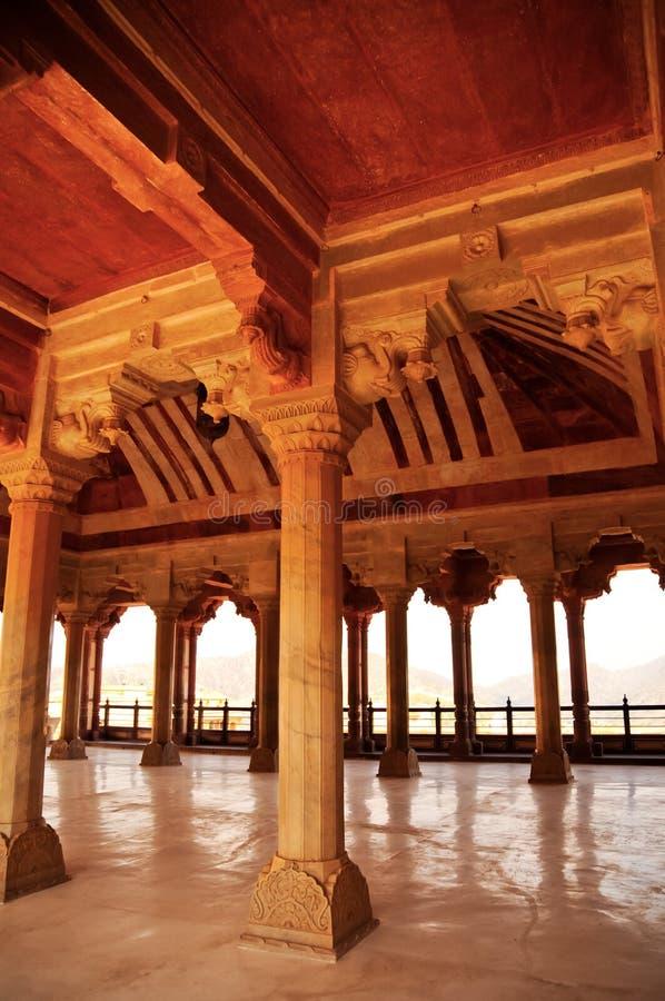 Salão do forte ambarino, Jaipur fotos de stock royalty free
