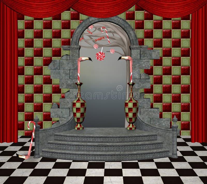 Salão do país das maravilhas ilustração royalty free