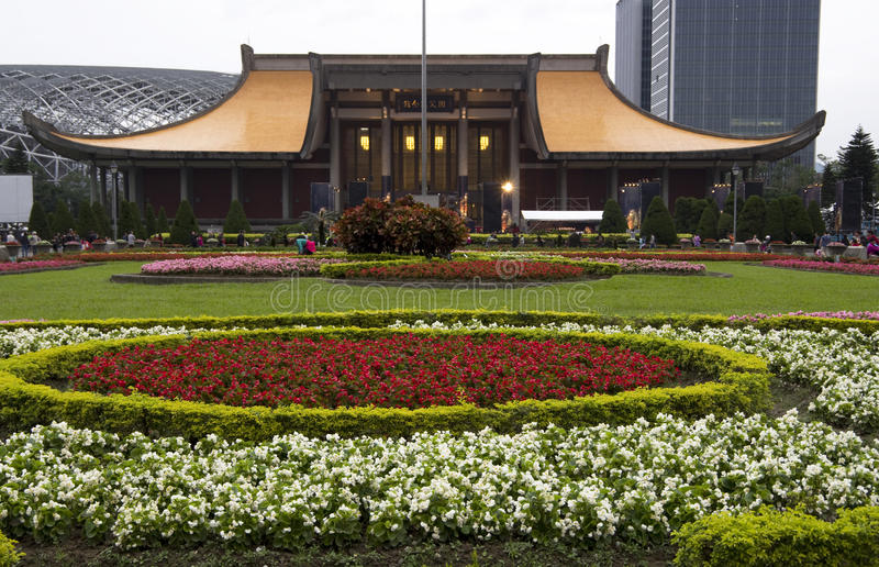 Salão memorável taipei de Sun Yat-sen imagem de stock