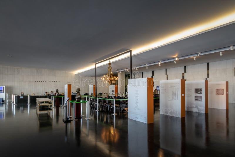 Salão - negro pretos de Salao - no congresso nacional brasileiro - Brasília, Distrito federal, Brasil foto de stock royalty free