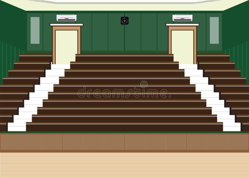 Salão principal da leitura da universidade com uma grande capacidade de assento ilustração royalty free
