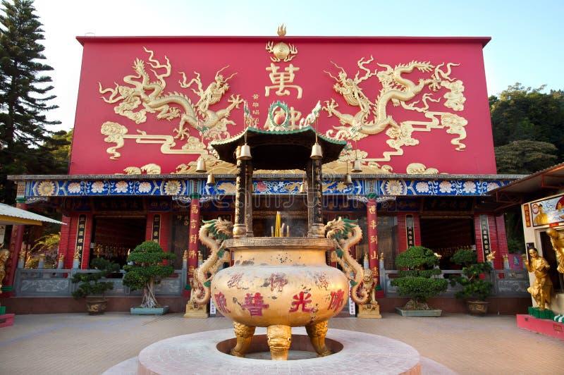 Salão principal exterior nos dez mil monastérios das Budas, Hong Kong imagens de stock